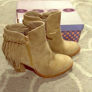 Shoes - Fringe ankle boots